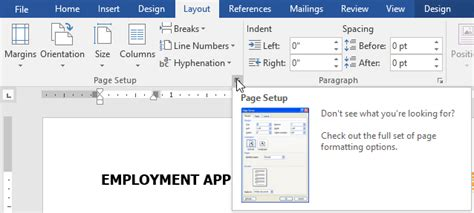word layout one page how easy page layout microsoft office belajar office