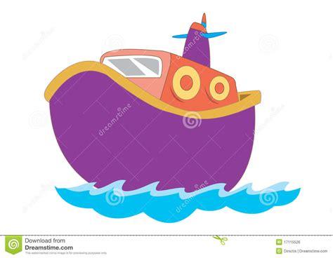 children s boat cartoon cute boat for children illustration royalty free stock