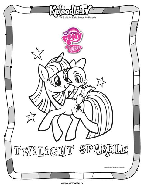 my little pony coloring pages hasbro my little pony twilight sparkle coloring sheet from