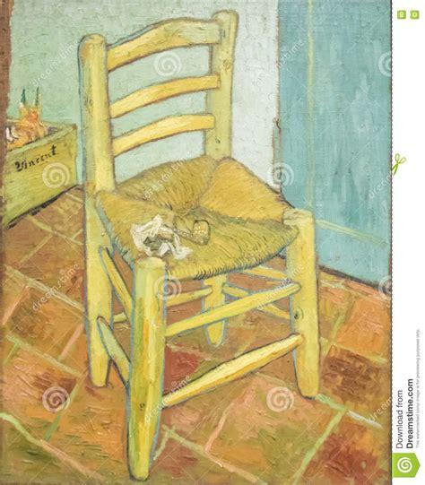 silla de van gogh silla del s de van gogh imagen editorial imagen de