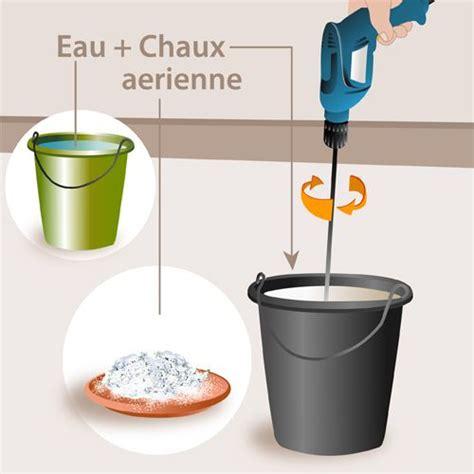 Comment Faire Du Lait De Chaux by Comment Fabriquer Et Poser Une Peinture 224 La Chaux