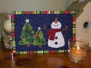 Happy snowman mug rug by sher s patterns quilting pattern