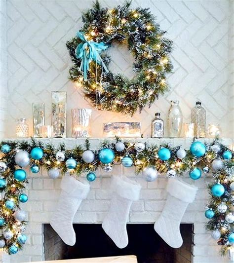 decorating for christmas with gold blue and gray 35 frosty blue and white d 233 cor ideas digsdigs