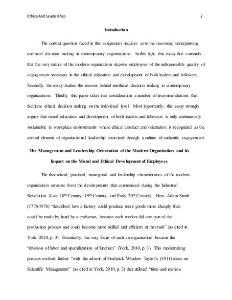 Capstone Essay by Ldr 7980 Capstone Essay Four Assignment Ethics And Leadership