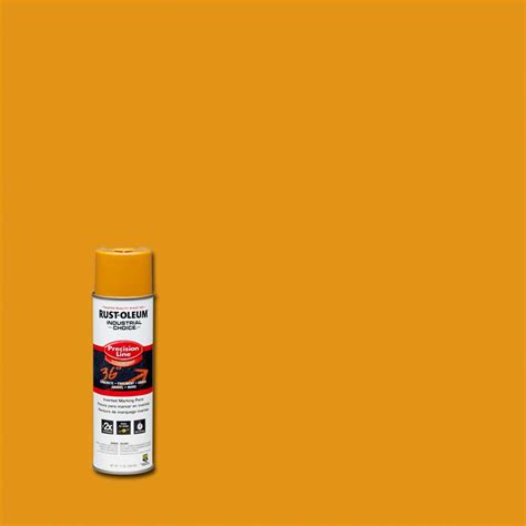 home depot spray paint yellow rust oleum industrial choice 17 oz caution yellow