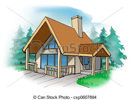 Cabana House Plans drawing of cottage a small vacation home in the country