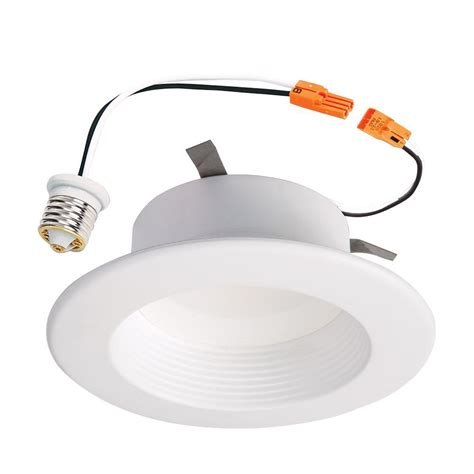 recessed led retrofit light trim halo rl 4 in white integrated led recessed ceiling light