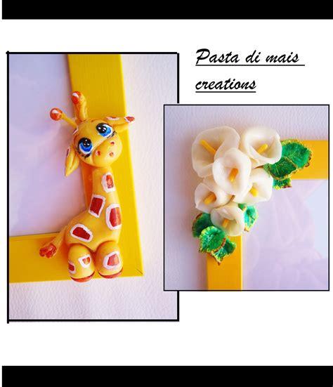 cornici pasta di mais pasta di mais creations cornice giraffa e calle in pasta