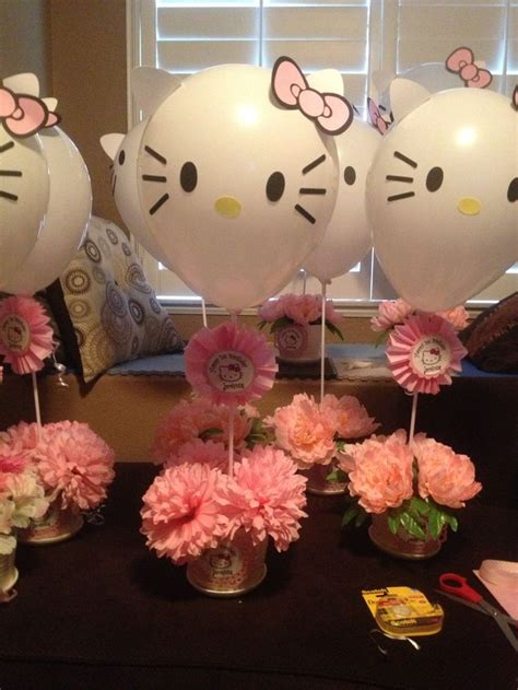 Hello Kitty Centerpiece Hello Kitty Party And Crafts Hello Centerpieces For Birthday