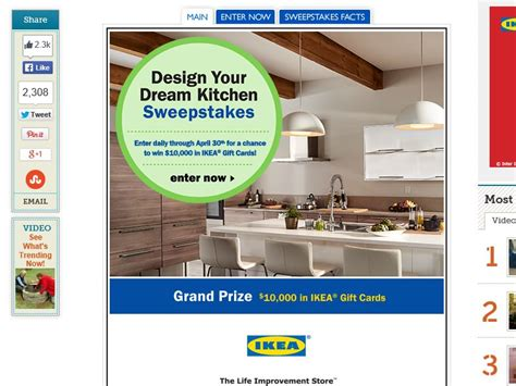 Dream Kitchen Sweepstakes - the this old house quot design your dream kitchen quot sweepstakes