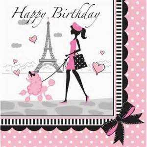 Make Your Own Wall Sticker Quotes party in paris happy birthday lunch napkins 18 per pack