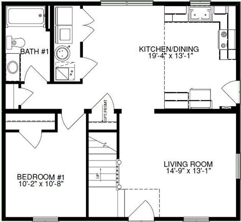 Expressmodular Cabin Plan E 1283 Square Foot Cape Floor Plan