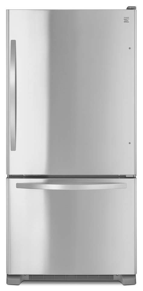 Single Drawer Refrigerator by Kenmore 79343 22 Cu Ft Bottom Freezer Single Door