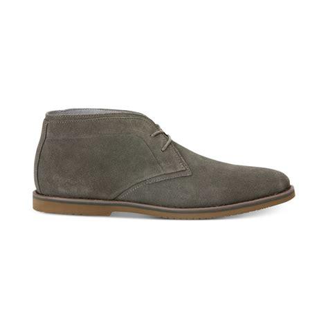 calvin klein franz suede chukka boots in gray for
