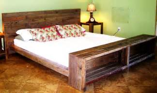 Wood Pallet Bed Frame For Sale Platform Bed Reclaimed Pallet Wood By Reanimatedwood On Etsy
