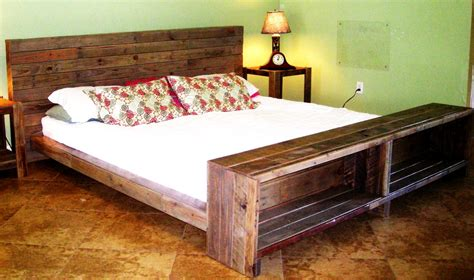 pallette bed platform bed reclaimed pallet wood by reanimatedwood on etsy