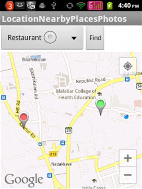 Android Nearby Places Exle by Showing Nearby Places With Photos At Any Location In