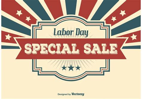 Non Related Sale Of The Day by Labor Day Sale Illustration Free Vector