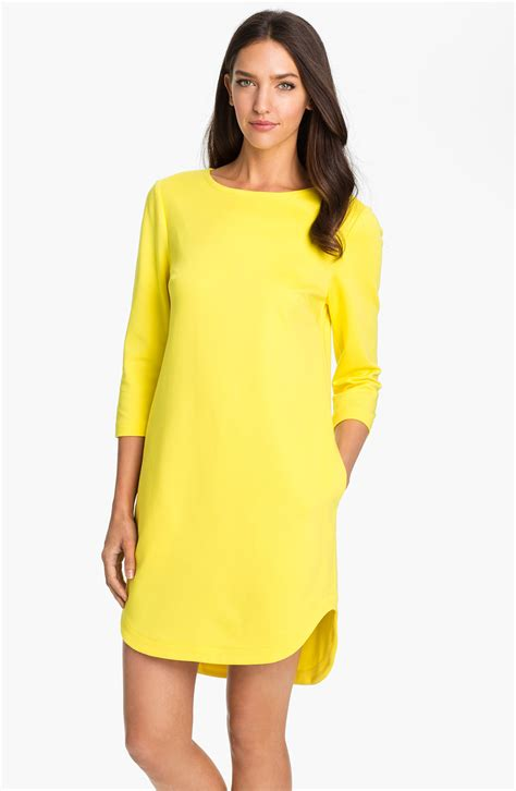 Dress Yellow sculptor boatneck shift dress in yellow pineapple lyst
