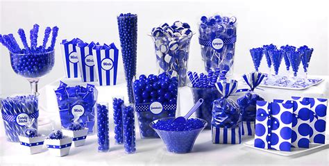 blue candy buffets time for the holidays party ideas
