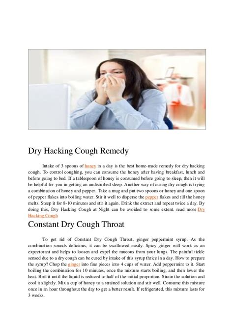 coughing and hacking hacking cough symptoms and remedies