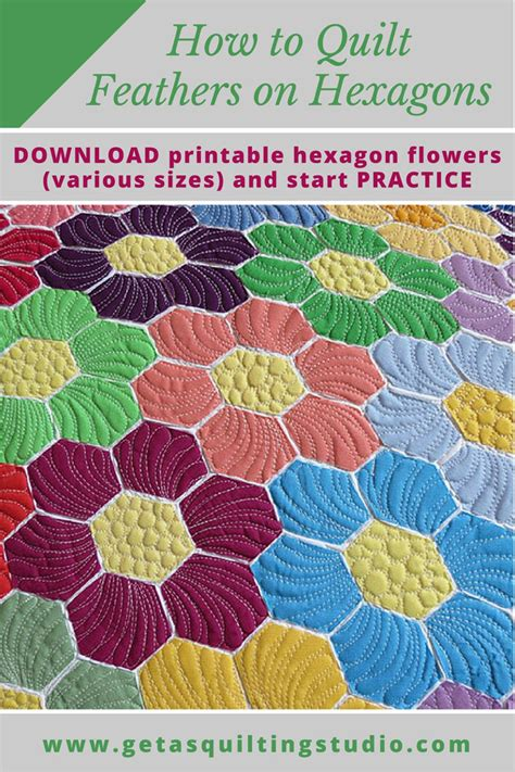 How To Quilt Hexagons Easy Way To Quilt Hexagon Quilts How To Use Quilting Templates