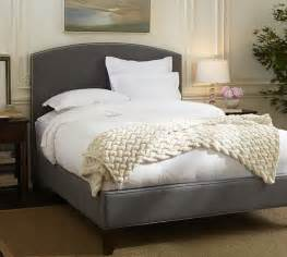 fillmore curved upholstered bed headboard pottery