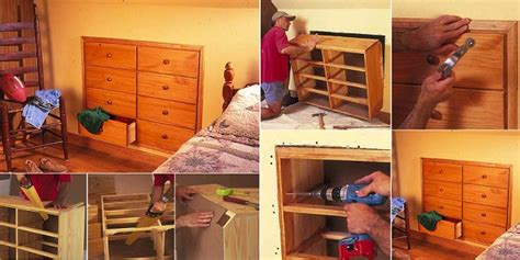 briliant space saver diy knee wall dresser diy crafts