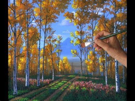 peindre foret peupliers lecon complete acrylique toile