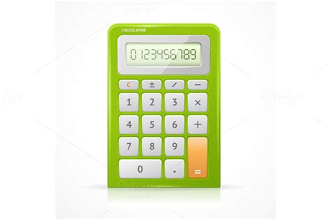 colorful calculator vector colorful calculator set objects on creative market