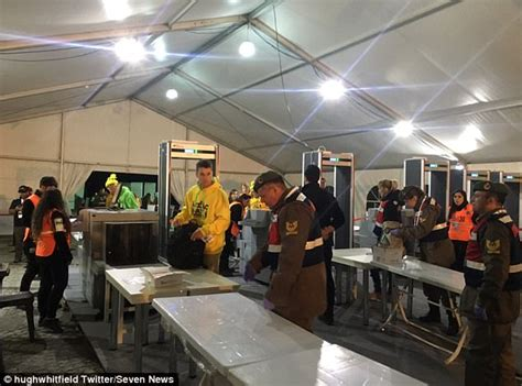 Waiting For Background Check To Clear Complain Of Handsy Checks In Gallipoli Anzac Day Daily Mail