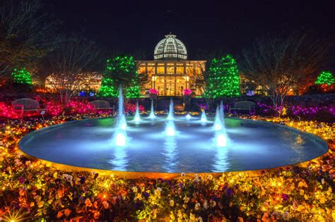 Botanical Garden Of Lights Dominion Gardenfest Of Lights At Lewis Ginter Botanical Garden