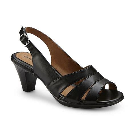 high heel wide width shoes basic editions s tyrelle black slingback high heel