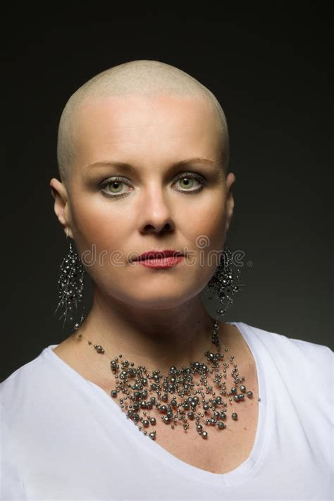 women neck shaved gallery beautiful middle age woman cancer patient without hair