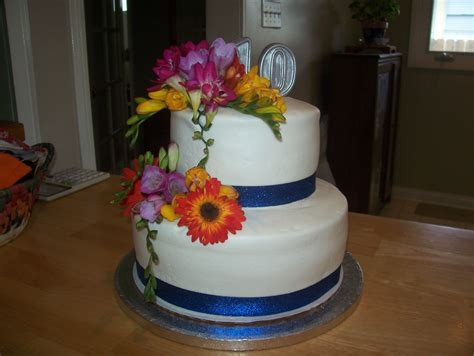10th Wedding Anniversary Cake   Anniversary ideas   Pinterest