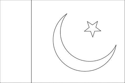 Pakistan Flag Coloring Page Flag Of Pakistan 2009 Clipart Etc by Pakistan Flag Coloring Page