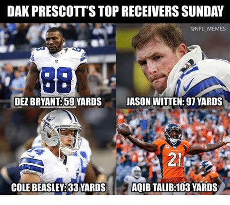 Football Sunday Meme - dak prescott s top receivers sunday dez bryant59