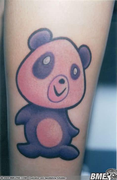 panda handstand tattoo cartoon panda tattoo