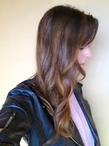 brown hair with highlights diy sequins shadows my diy balayage highlights results