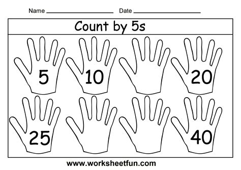printable worksheets counting by 2 5 10 count by 5s 3 worksheets free printable worksheets