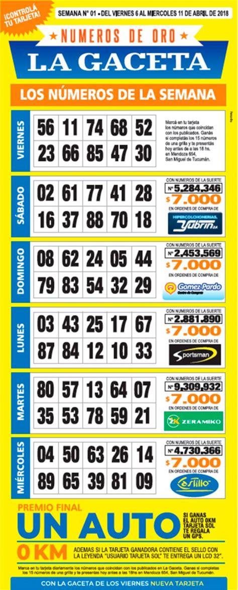 numeros de oro la gaceta grilla completa semana 21 la grilla completa de los n 250 meros de oro de la gaceta la