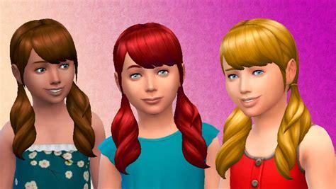 the sims 4 hair kids sims 4 hairs mystufforigin pigtails hair for girls