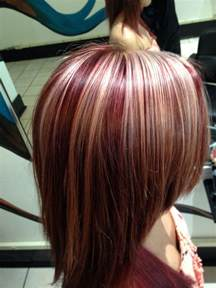 chunky hair color color with chunky highlights hair done by me