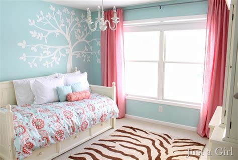 blue and pink girls bedroom remodelaholic home sweet home on a budget girls bedrooms and a linkup