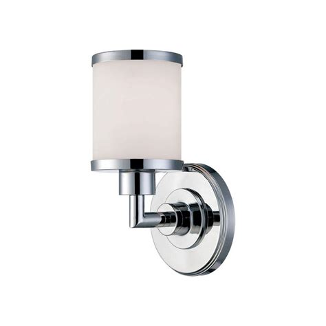 Chrome Wall Sconce Millennium Lighting 1 Light Chrome Wall Sconce With Etched White Glass 221 Ch The Home Depot