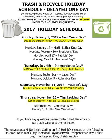 house values com north andover trash recycle schedule 2017