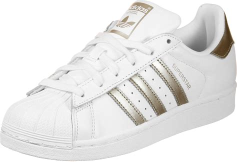 adidas superstar w shoes white gold