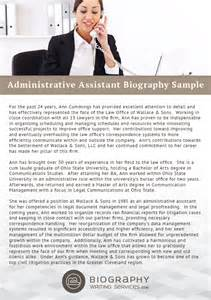 administrative assistant bio writing service biography