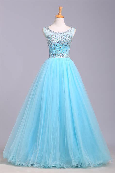 light blue tulle dress light blue prom dresses tulle prom dress modest prom gown