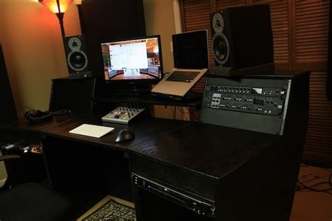 diy studio desk plans 5 awesome recording studio desk plans on a budget